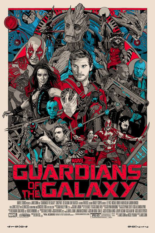 Guardians of The Galaxy Poster Print by Tyler Stout