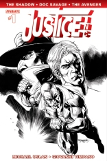 JUSTICE INC. #1 SEGOVIA COVER BLACK AND WHITE