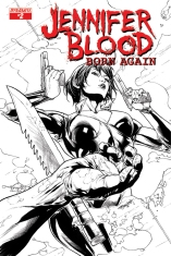 JENNIFER BLOOD BORN AGAIN #2 BLACK AND WHITE COVER
