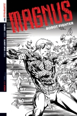 MAGNUS ROBOT FIGHTER #6 SMITH BLACK AND WHITE COVER