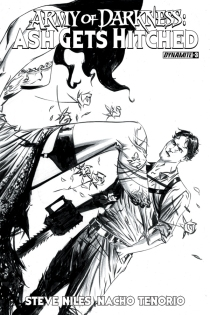 ARMY OF DARKNESS ASH GETS HITCHED #3 LEE BLACK AND WHITE COVER