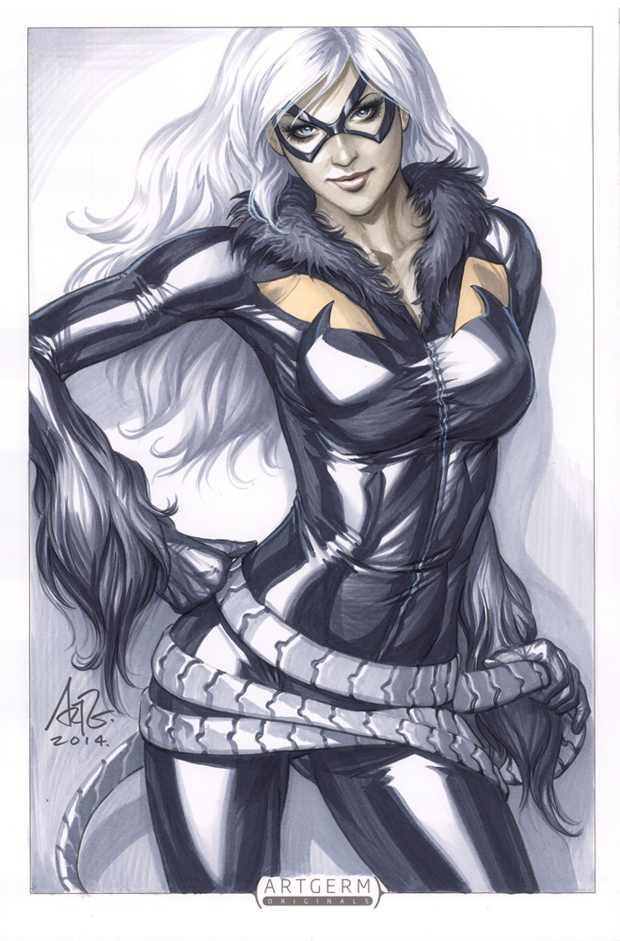Black Cat Illustration by Stanley Lau