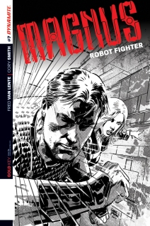 MAGNUS ROBOT FIGHTER #7 HARDMAN BLACK AND WHITE COVER