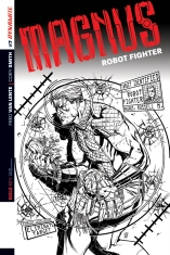 MAGNUS ROBOT FIGHTER #7 SMITH BLACK AND WHITE COVER