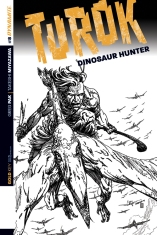 TUROK DINOSAUR HUNTER #8 SEARS BLACK AND WHITE COVER COVER