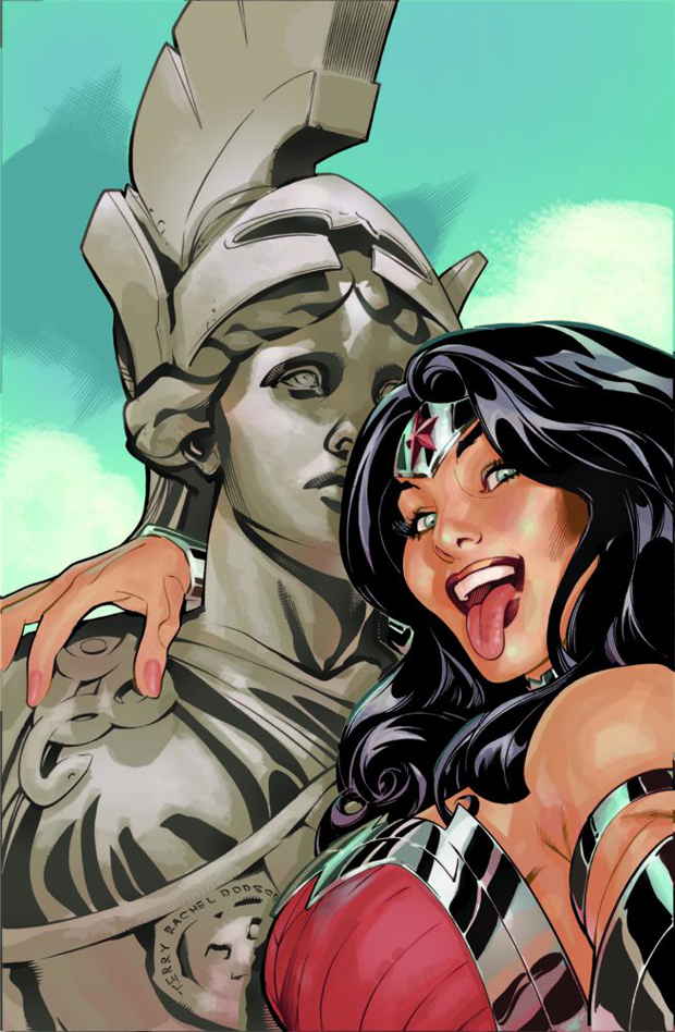 Wonder Woman Selfie Cover by Terry & Rachel Dodson