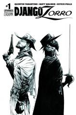 DJANGO ZORRO #1 LEE BLACK AND WHITE COVER