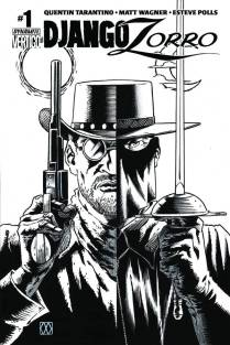 DJANGO ZORRO #1 WAGNER BLACK AND WHITE COVER