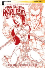 JOHN CARTER WARLORD OF MARS #1 CAMPBELL RED AND WHITE COVER