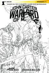 JOHN CARTER WARLORD OF MARS #1 SEARS BLACK AND WHITE COVER